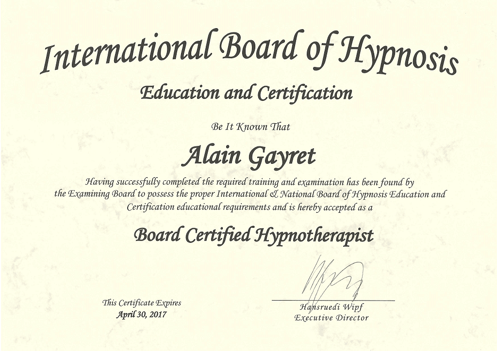 IBH - Board Certified Hypnotherapist