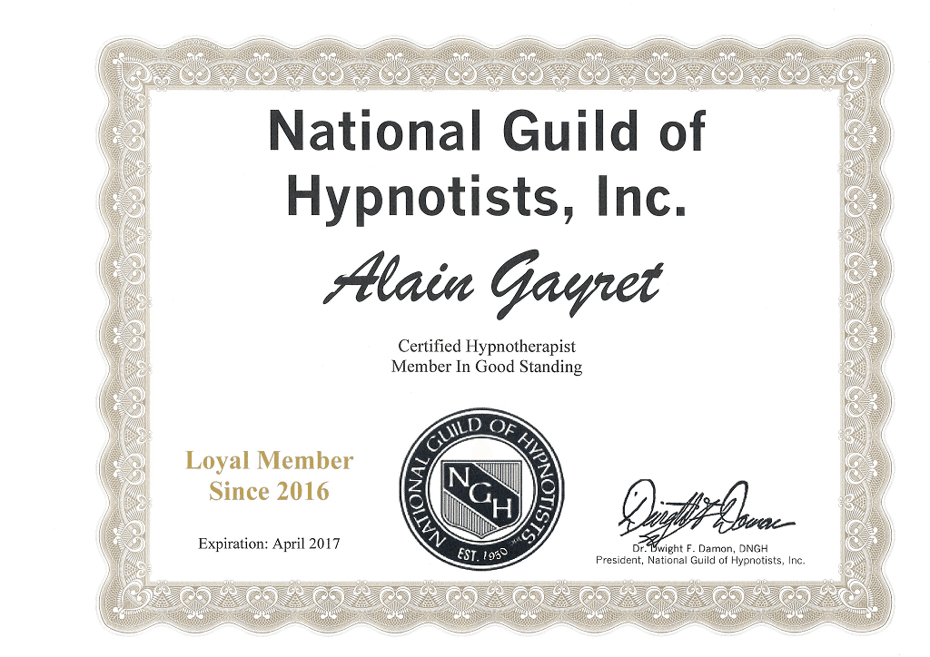 NGH - Certified Hypnotherapist